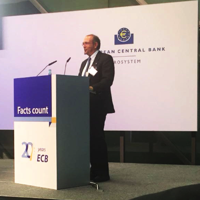 Dr. Alberto Pace speaking at the European Central Bank